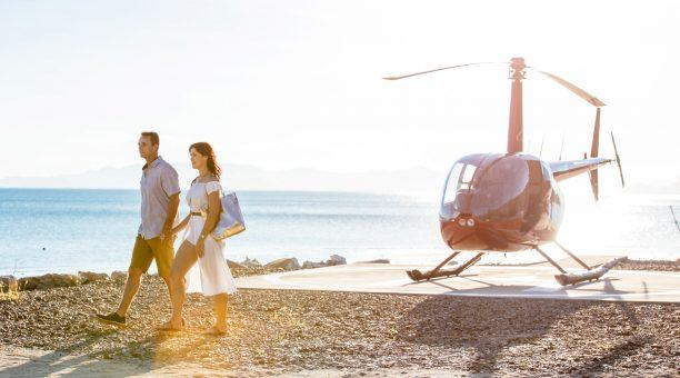Arrive in Style on a Helicopter